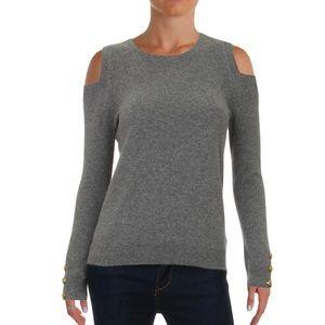 Ralph Lauren Cold Shoulder 100% Cashmere Sweater